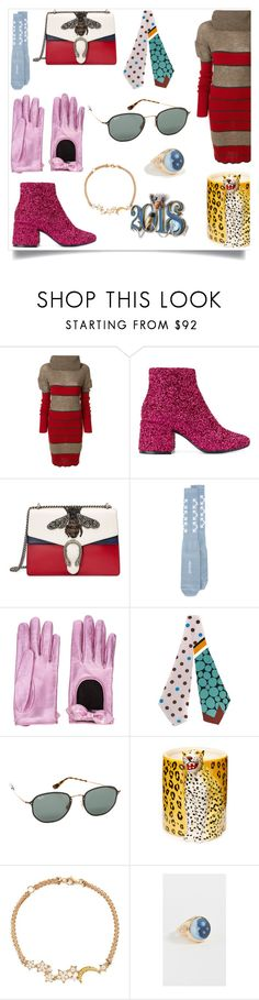 """""""2018 FASHION"""" by gloriaruth-807 ❤ liked on Polyvore featuring Vivienne Westwood, MM6 Maison Margiela, Gucci, Off-White, Marni, Ray-Ban, Charlotte Olympia, Anyallerie and Jacquie Aiche"""
