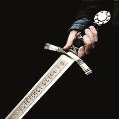 Before the invention of guns, Hunters used specially crafted silver swords. They were engraved with magical runes to increase their durability and power. The runes have to be charged with the lifeblood of a faerie in order to work.
