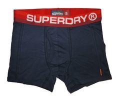 Superdry Mens Retro Sport Boxer - Imp Navy/Cali Red Stripe - Great Gift!