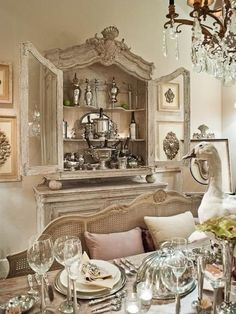 Excellent modern french country decor are offered on our site. look at this and you wont be sorry you did. French Country Dining Room, French Living Rooms, Modern French Country, French Country Kitchens, French Country Bedrooms, French Country Farmhouse, Country Homes, French Country Kitchen Decor, Country Blue