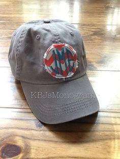 Ladies Monogrammed Hat by KBJsMonogram on Etsy, $24.00