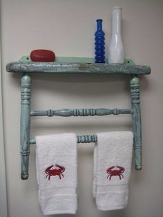Repurposed chair- I have the broken chair, when I paint the bathroom, this will be in it!