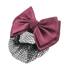 Uxcell 2 Layer Bow Barrette Hair Clip Bun Cover, Burgundy, 0.04 Pound -- For more information, visit now : Hair Accessories