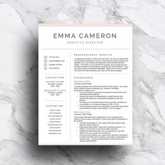 Take your resume up a notch with this professionally designed resume template for word!          #resume #resumetemplate #pinkresume #makeupartist #cvtemplate #creativeresume #coverletter #curriculumvitae #jobinterview #resumemakeover
