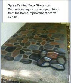 Concrete stone walk