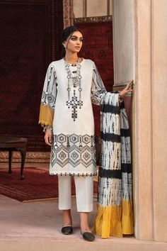 EMBROIDERED SUIT (WTB311549) | ETHNIC
