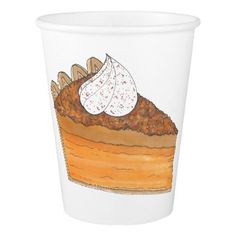 Sweet Potato Pie Thanksgiving Christmas Holiday Paper Cup - diy cyo  customize create your own personalize 68ccaf483534