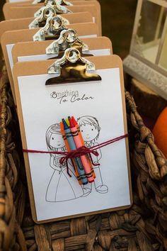 Préparer un atelier pour les enfants à votre mariage ! #mariage #activités #enfants