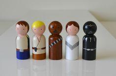 Star Wars Peg Doll Set. $30.00, via Etsy.