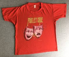 6192ceb67d1 MOTLEY CRUE TOUR Shirt 1985 Vintage  80 s Theater Of Pain Glam Rock Metal Band  Tshirt  Masks Cotton Tee Tommy Lee Vince Neil Mick Mars Large