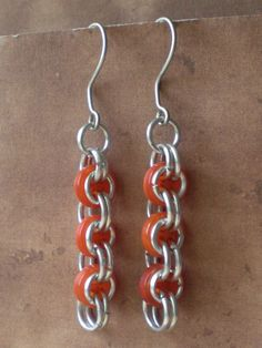 Cute as a Button Chainmaille Earrings