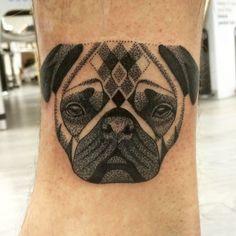 Dotwork pug by Lauren Sutton - Redwood Tattoo Studio, Manchester