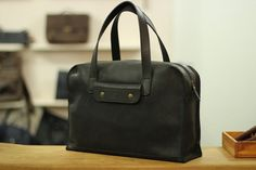 Handbag from genuine leather hand-made leather bag by MenEvolution