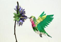 AdictaMente: Son de papel, pero parecen reales. Pájaros.