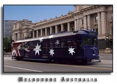 Melbourne tram - love the graphics...