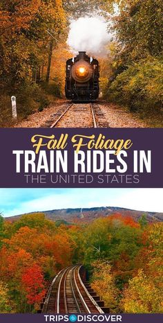11 Best Fall Foliage Train Rides in the United States--Tanks that Get Around is an online store offering a selection of funny travel clothes for world explorers. Check out for funny travel tank tops and more US road trip destination ideas Us Travel Destinations, Places To Travel, Places To Visit, Family Vacation Destinations, Bucket List Destinations, Train Travel, Travel Usa, Train Trip, Train Journey