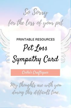 Print Out Sympathy Cards Awesome Printable Pet Loss Sympathy Card ✨animals & Nature Lovers Gifts For Dog Owners, Gifts For Pet Lovers, Dog Gifts, Dog Lovers, Sympathy Card Sayings, Sympathy Gifts, Grieving Gifts, Custom Dog Beds, Sorry Cards