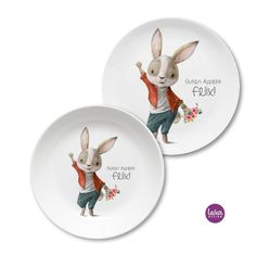 Teller, Decorative Plates, Home Decor, Diy Gifts, Easter Bunny, Names, Easter Activities, Birthday, Decoration Home