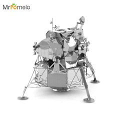 MrPomelo Puzzle 3D Apollo Lunar Module 3D Model Kit Steel Laser Cut NANO Bulid Puzzles Toys for Adult Kids Educational Toy Gift #Affiliate