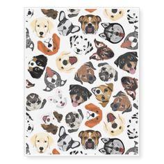 Illustration Pattern Sweet Domestic Dogs Temporary Tattoos   Home Decor  Design Art Diy Cyo Custom