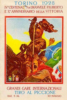 Iv° centenario di Emanuele Filiberto  e X° Anniversario della vittoria. Grandi gare internazionali di  tiro al piccione