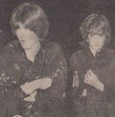 1980 Diana with her sister Jane at the Ritz in London for Princess Margaret's birthday party