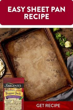 This irresistible Sheet Pan Crunch Quesadilla, featuring the zingy flavor of Sargento® Pepper Jack slices, is sure to be devoured in minutes. Fortunately, this recipe is quick and easy to make. Quesadilla Recipes, Quiche Recipes, Appetizer Recipes, Appetizers, Mexican Dishes, Mexican Food Recipes, Low Carb Recipes, Cooking Recipes, Just Bake