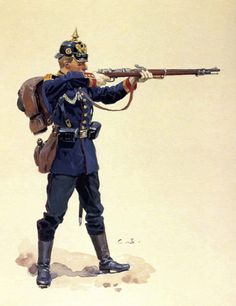 by Zhukov - The Military History Emporium - Unteroffizier, Fusilier-Regiment von Steinmetz (Westpreussisches) Nr. 37 (By Carl Becker, from the - Military Girlfriend, Military Guns, Military Art, Military History, Military Wedding, Military Spouse, Military Uniforms, Military Style, Military Aircraft