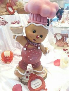 ADORABLE Polymer Clay Figures, Polymer Clay Projects, Diy Clay, Christmas Gingerbread, Christmas Crafts, Polymer Clay Christmas, Clay Fairies, Clay Baby, Clay Figurine