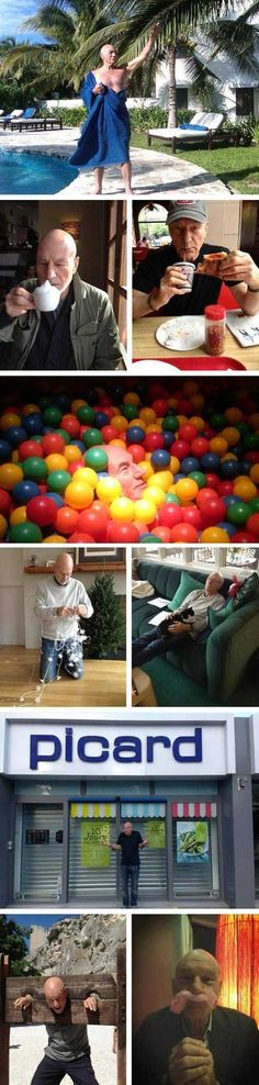 Just Patrick Stewart being awesome, like he is