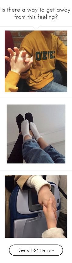 """""""is there a way to get away from this feeling?"""" by mochji ❤ liked on Polyvore featuring couples, photo, ulzzang couples, pics, relationships, pictures, people, photos, backgrounds and filler"""