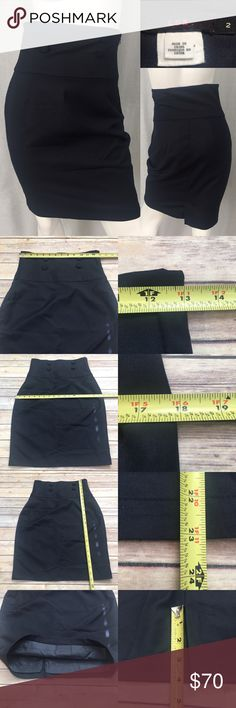 🌳Anthro LUX 2 Navy High Waist Button Pencil Skirt Measurements are in photos. Normal wash wear, no flaws. A2/37 ***button are a little loose, very easy fix I just don't have the time to do it.  I do not comment to my buyers after purchases, due to their privacy. If you would like any reassurance after your purchase that I did receive your order, please feel free to comment on the listing and I will promptly respond.   I ship everyday and I always package safely. Thank you for shopping my…