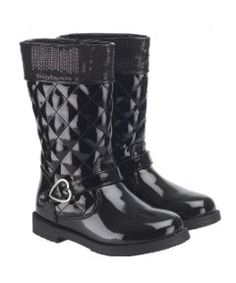 View details of Mothercare Black Patent Sequin Boots