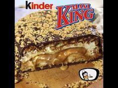 Kinder Maxi King - Recept Videók - YouTube King Torta, Maxi King, Vegan Recipes, Birthdays, Food And Drink, Cookies, Drinks, Breakfast, Cake