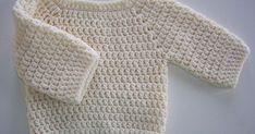DIY Basic Crochet Baby Sweater - FREE Pattern / Tutorial