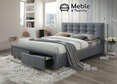 Łóżko Ascot 160 Szary