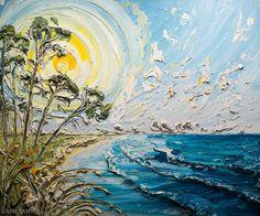"72""x60"" Coastal Series - Artist, Justin Gaffrey"