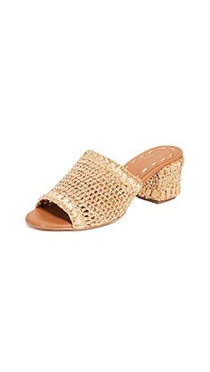 New Carrie Forbes Jole Slides Womens Fashion Shoes. offers on top store Chunky Heels, Hand Crochet, Slide Sandals, Urban Decay, Sliders, Carry On, Open Toe, Fendi, Heeled Mules