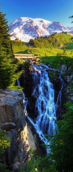 Myrtle Falls, Mt. Rainier National Park, Washington (Photo: vtgohokies)