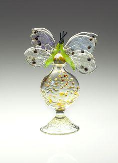 Loy Allen Glass ~ 2013 Bottles - Two Butterflies