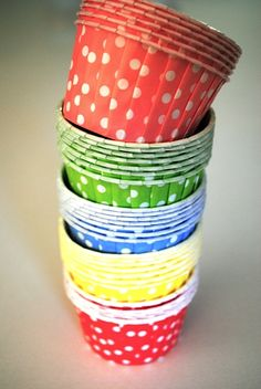 Polka Dot Party Cups...we sell these!