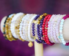 Arm candy! Bangles, Bracelets, Gemstone Jewelry, Arms, Candy, Gemstones, Sweet, Toffee