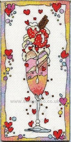 Buy Chocolate Ice Cross Stitch Kit Online at www.sewandso.co.uk