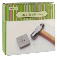 Steel Bench Block - Hobby Lobby (for making hand stamped jewelry)