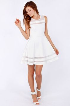 Vestido Color Blanco
