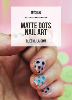 Matte Dots Nail Art.