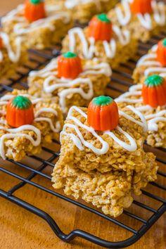 Pumpkin Pie Rice Krispie Treats @Sally M. [Sally's Baking Addiction]