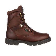 Georgia Homeland Mens Brown Leather Steel Toe Waterproof Work Boots