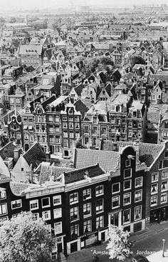 1950's. Aerial shot of the Jordaan in Amsterdam. #amsterdam #1950.