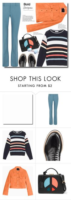"""""""peace"""" by bynoor ❤ liked on Polyvore featuring Gucci, Max&Co., McQ by Alexander McQueen, Mark Cross and BoldStripes"""